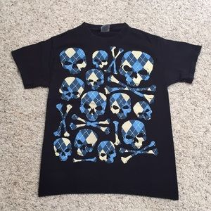 🧔🏻3for$15🧔🏻men's S skull&cross bone tee shirt